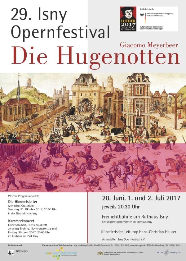 Plakat Festival 2017 - Giacomo Meyerbeer (1791-1864) »Die Hugenotten«