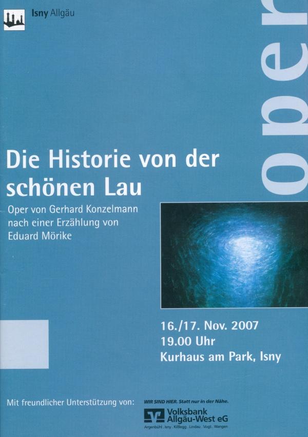 Gerhard Konzelmann (1932-2008) »Die Historie von der schönen Lau«