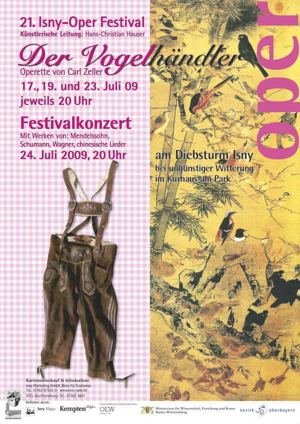 Festival 2009 - Carl Zeller (1842-1898) »Der Vogelhändler«