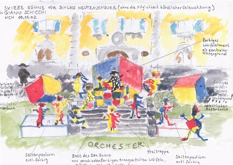 Festival 2003 - Skizze Zu Neutrauchburg »Gianni Schicchi«