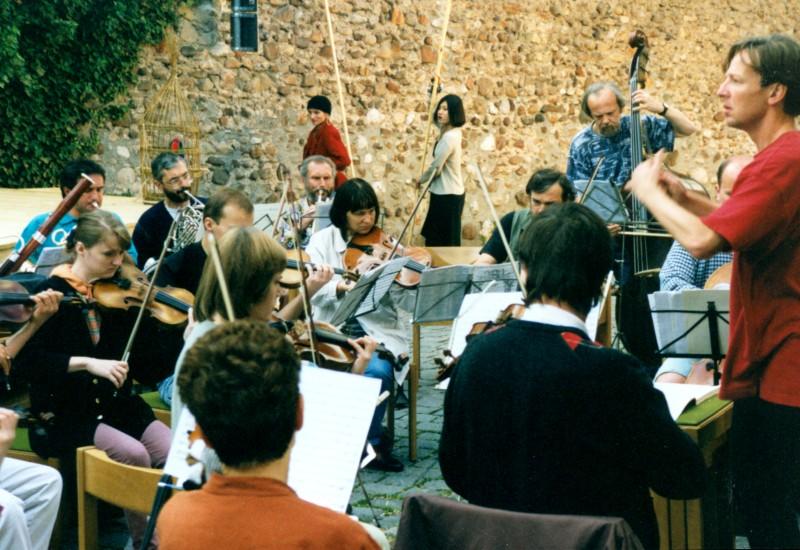 Festival 1998 – Proben zur Zauberflöte(Foto: Lienau)