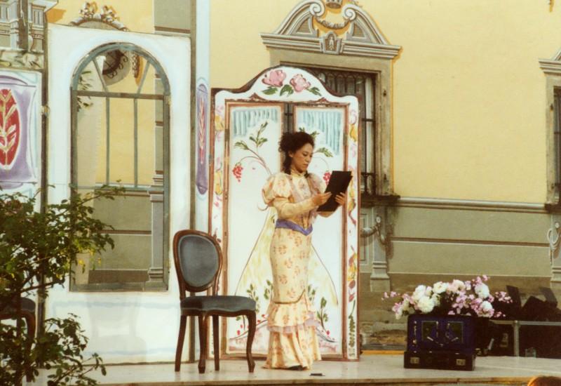 Festival 2001 - »Figaros Hochzeit«, Freilichtbühne Schloss Isny-Neutrauchburg (Foto: Lienau)