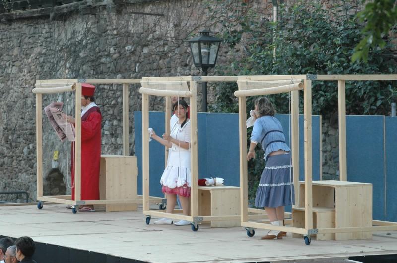 Festival 2005 - »Die vier Grobiane«, Freilichtbühne an der Unteren Stadtmauer, Isny (Foto: Winkler)