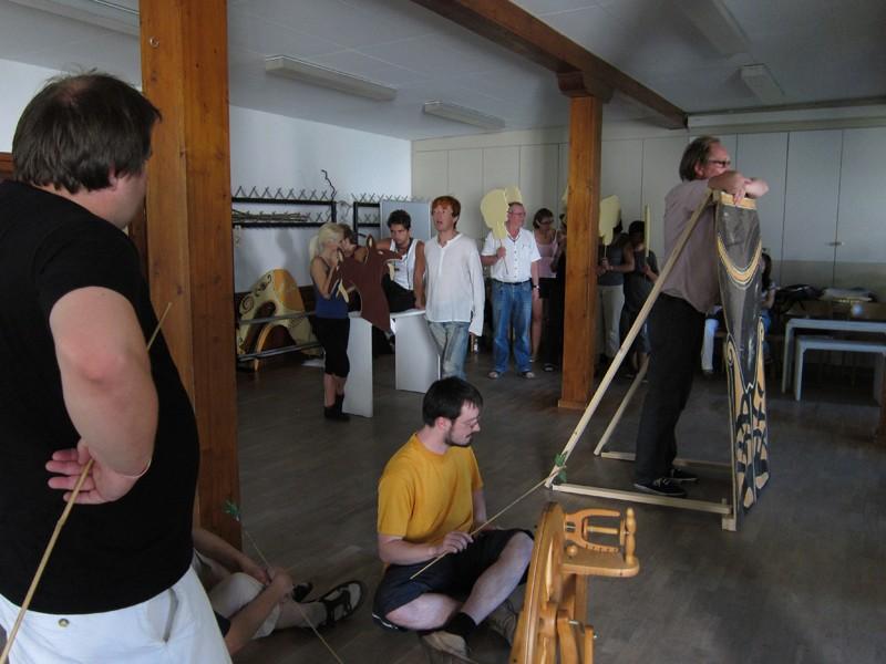Probe in der alten Gerbe (Foto: Voith)