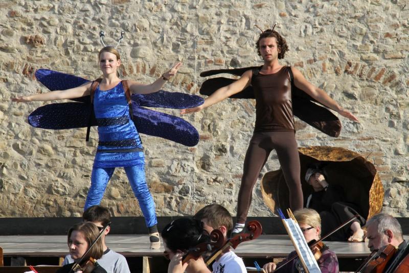 Festival 2011 - »Das schlaue Füchslein« Proben auf der Freilichtbühne am Espantor, Isny< (Foto: Rau)