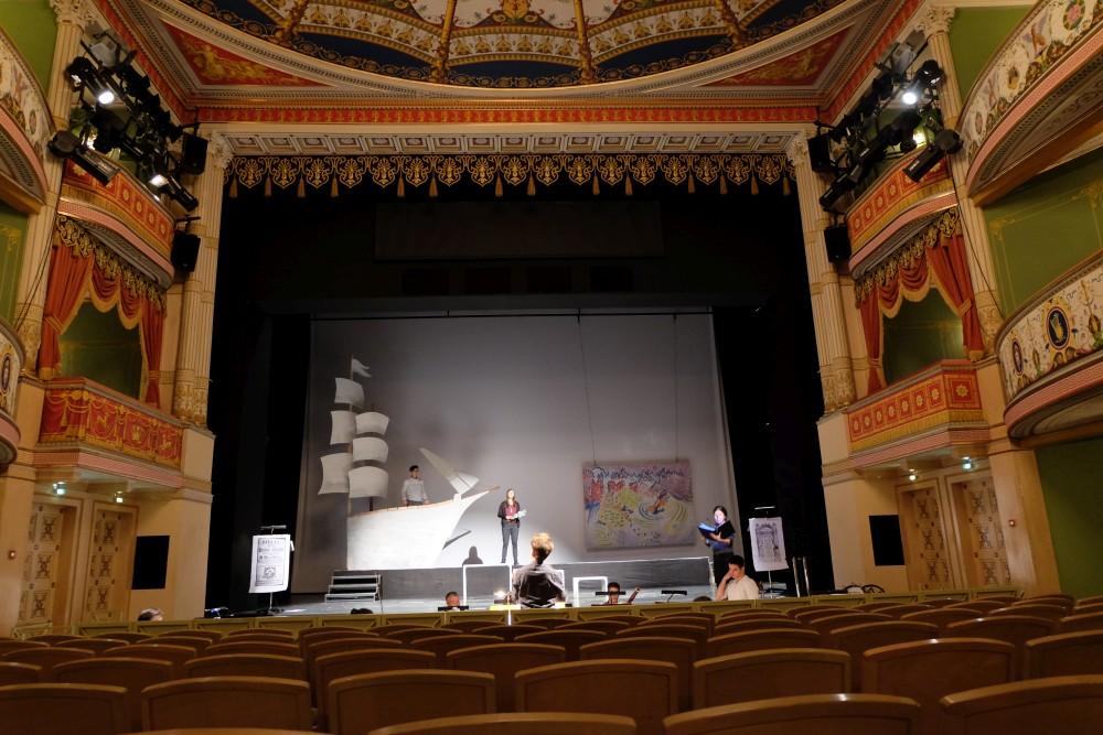 Probe im Wilhelma-Theater, Stuttgart (Foto: Hani)