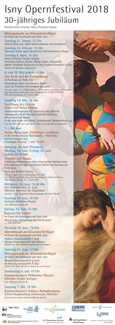 Isny Opernfestival - Jahresprogramm 2018